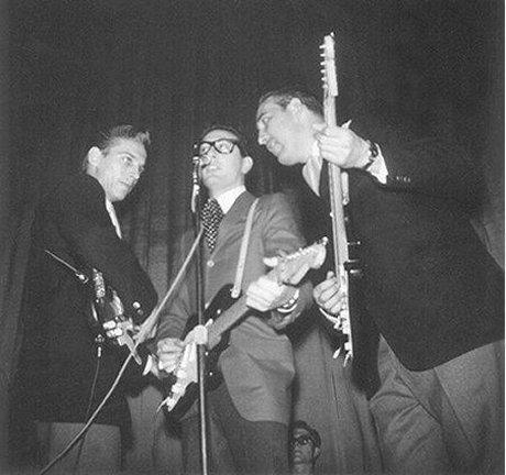 Buddy cu Waylon Jennings și Tommy Allsup - noii Crickets